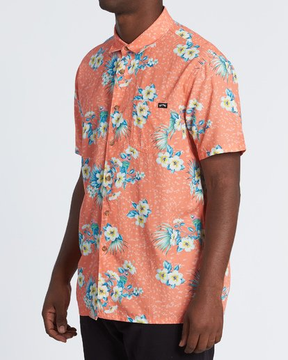 2 Sundays Floral - Kurzärmeliges Hemd für Herren Orange S1SH05BIP0 Billabong