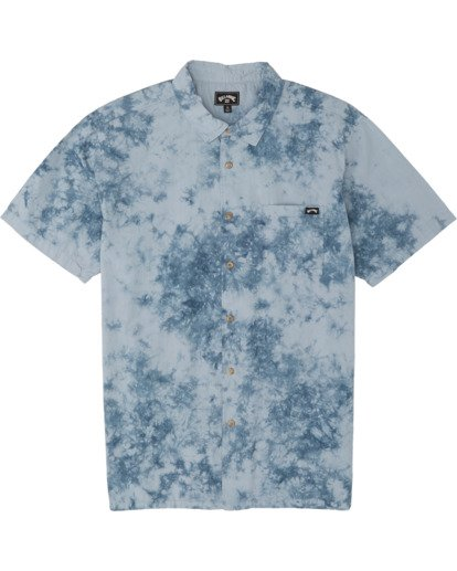 2 Sundays - Tie-Dye Shirt for Men Blue S1SH06BIP0 Billabong