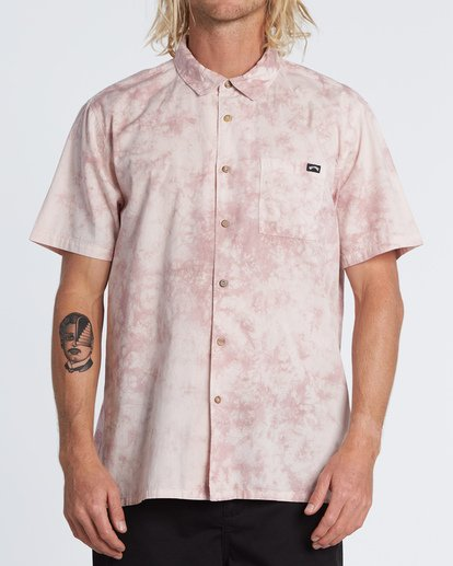 0 Sundays - Batik-Hemd für Herren Rosa S1SH06BIP0 Billabong