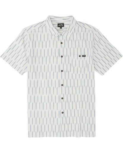 5 Sundays Jacquard - Chemise manches courtes pour Homme Blanc S1SH09BIP0 Billabong