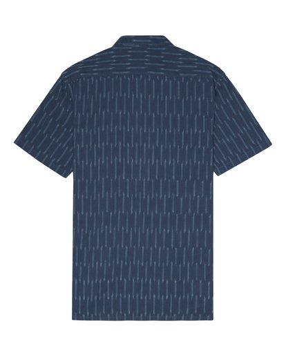 6 Sundays Jacquard - Camisa de manga corta para Hombre Azul S1SH09BIP0 Billabong
