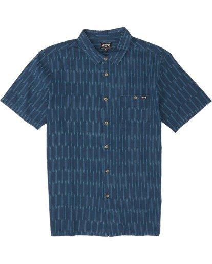 5 Sundays Jacquard - Camisa de manga corta para Hombre Azul S1SH09BIP0 Billabong