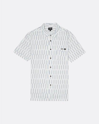 3 Sundays Jacquard - Chemise manches courtes pour Homme Blanc S1SH09BIP0 Billabong