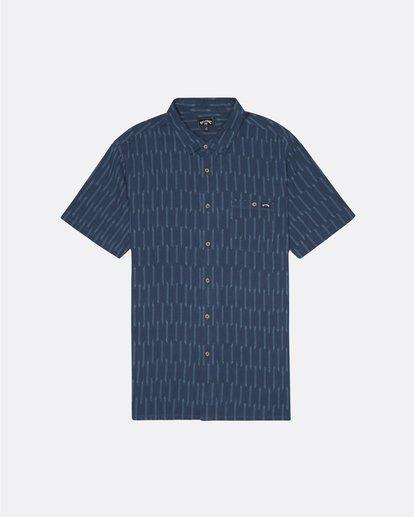 3 Sundays Jacquard - Camisa de manga corta para Hombre Azul S1SH09BIP0 Billabong