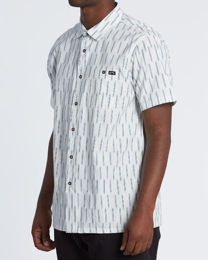 2 Sundays Jacquard - Chemise manches courtes pour Homme Blanc S1SH09BIP0 Billabong