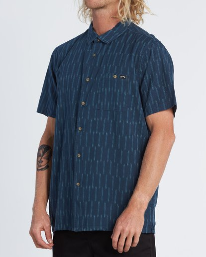 2 Sundays Jacquard - Camisa de manga corta para Hombre Azul S1SH09BIP0 Billabong