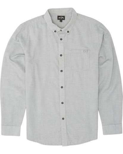 5 All Day - Camisa de manga larga para Hombre Gris S1SH11BIP0 Billabong