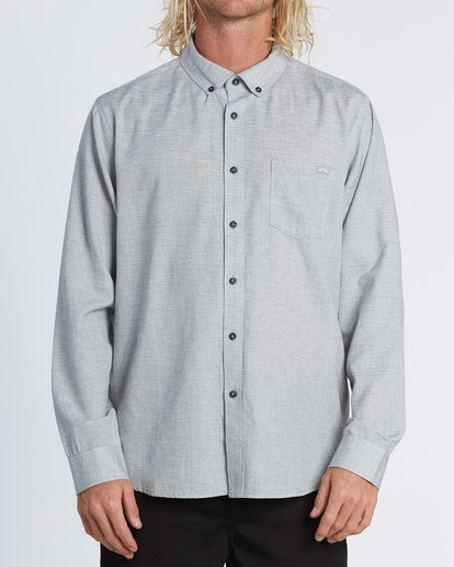 0 All Day - Camisa de manga larga para Hombre Gris S1SH11BIP0 Billabong