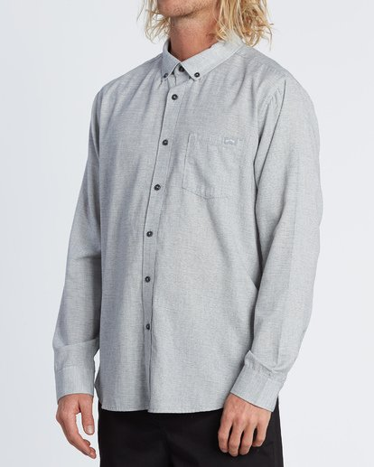 2 All Day - Camisa de manga larga para Hombre Gris S1SH11BIP0 Billabong