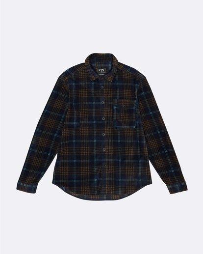 3 Furnace Flannel - Polarfleece Flannelhemd für Herren Blau S1SH12BIP0 Billabong