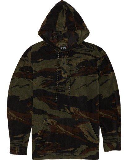 3 Furnace Anorak - Fleecehemd mit Kapuze für Herren Gemustert S1SH13BIP0 Billabong