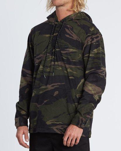 2 Furnace Anorak - Fleecehemd mit Kapuze für Herren Gemustert S1SH13BIP0 Billabong