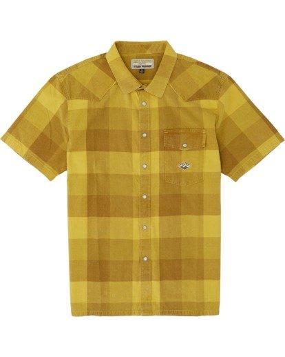 3 Four Doors - Camisa de manga corta para Hombre Amarillo S1SH15BIP0 Billabong