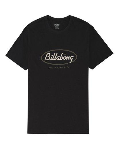 2 State Beach - Camiseta para Hombre Negro S1SS03BIP0 Billabong