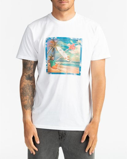 3 First Sight - Camiseta para Hombre Blanco S1SS75BIP0 Billabong