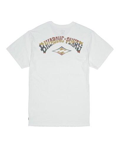 1 Billabong x PUKAS - Camiseta para Hombre Blanco S1SS76BIP0 Billabong