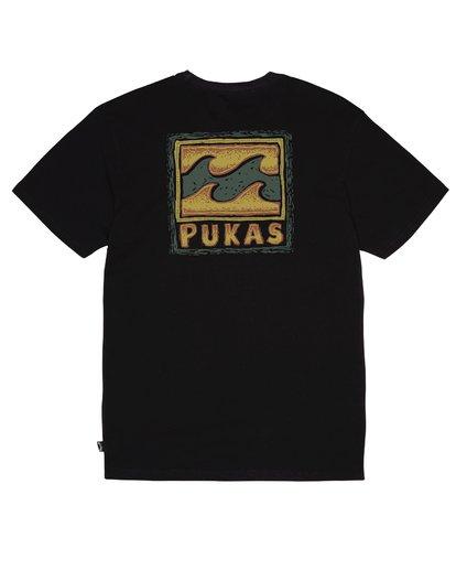 1 Billabong x PUKAS - Camiseta para Hombre Negro S1SS76BIP0 Billabong