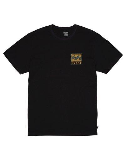 0 Billabong x PUKAS - Camiseta para Hombre Negro S1SS76BIP0 Billabong