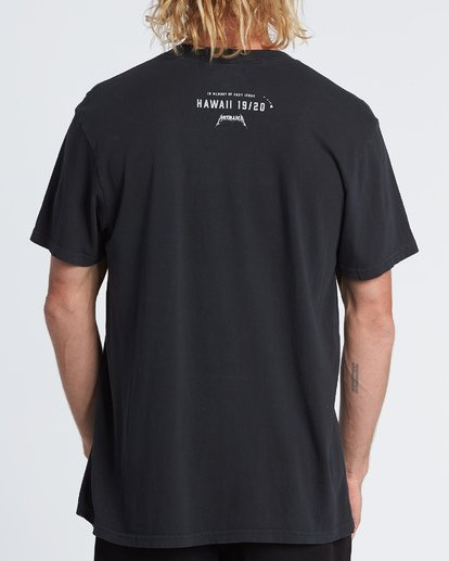 1 AI Metallica - Camiseta con estampado gráfico para Hombre Negro S1SS93BIP0 Billabong