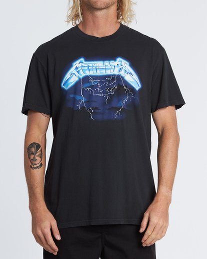 0 Ride The Lightning - Camiseta con estampado gráfico para Hombre Negro S1SS94BIP0 Billabong