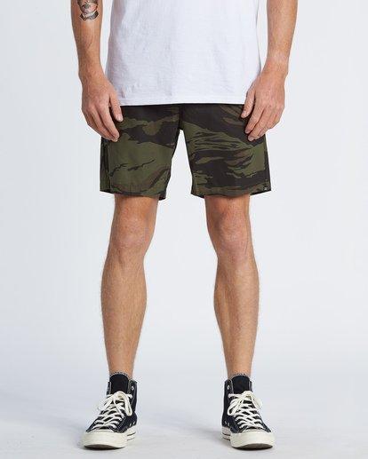 """0 Surtrek Perf 19"""" - Pantalones cortos de alto rendimiento para Hombre Camo S1WK14BIP0 Billabong"""