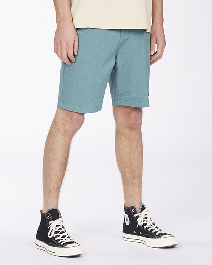 """6 Crossfire Mid 19"""" - Submersible Shorts for Men Green S1WK21BIP0 Billabong"""