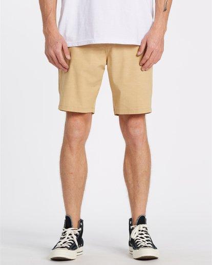 0 New Order Slub - Pantalones cortos sumergibles para Hombre Amarillo S1WK26BIP0 Billabong