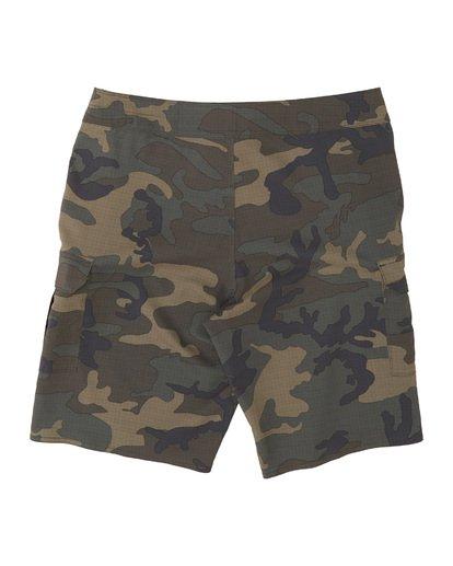 """6 Combat Bbo Submersible 21"""" - Bañador de surf de pantalón / Pantalones cortos híbridos para Hombre Verde S1WK37BIP0 Billabong"""
