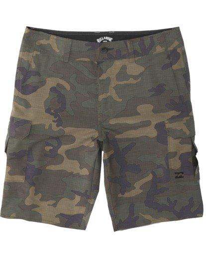 """5 Combat Bbo Submersible 21"""" - Bañador de surf de pantalón / Pantalones cortos híbridos para Hombre Verde S1WK37BIP0 Billabong"""