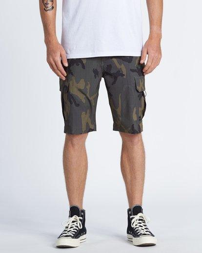 """0 Combat Bbo Submersible 21"""" - Bañador de surf de pantalón / Pantalones cortos híbridos para Hombre Verde S1WK37BIP0 Billabong"""