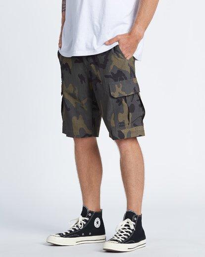 """2 Combat Bbo Submersible 21"""" - Bañador de surf de pantalón / Pantalones cortos híbridos para Hombre Verde S1WK37BIP0 Billabong"""