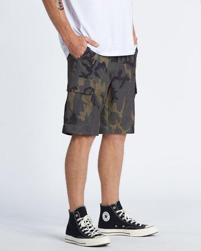 """3 Combat Bbo Submersible 21"""" - Bañador de surf de pantalón / Pantalones cortos híbridos para Hombre Verde S1WK37BIP0 Billabong"""