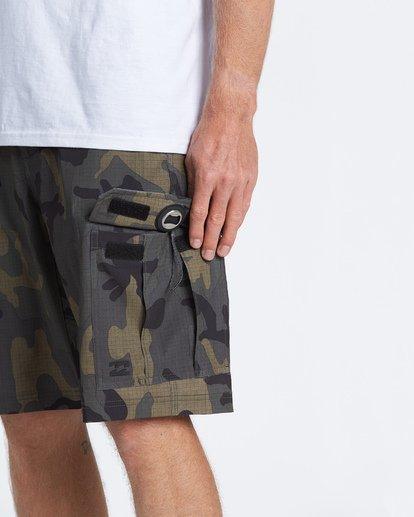 """4 Combat Bbo Submersible 21"""" - Bañador de surf de pantalón / Pantalones cortos híbridos para Hombre Verde S1WK37BIP0 Billabong"""
