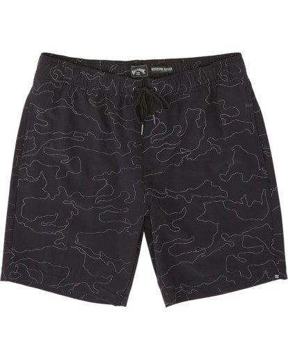 "4 Surftrek Rflx Elastic 18"" - Pantalones cortos de alto rendimiento para Hombre Negro S1WK38BIP0 Billabong"