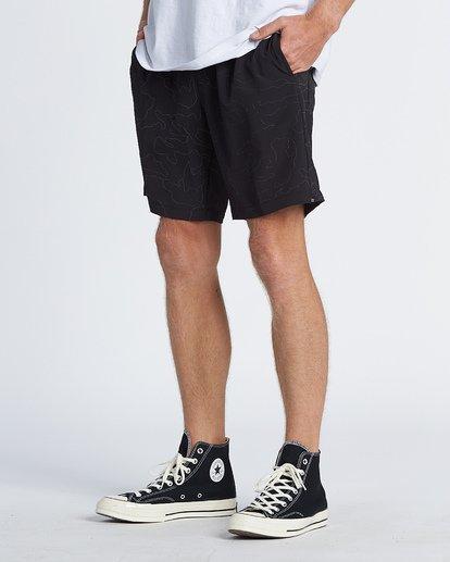 "2 Surftrek Rflx Elastic 18"" - Pantalones cortos de alto rendimiento para Hombre Negro S1WK38BIP0 Billabong"