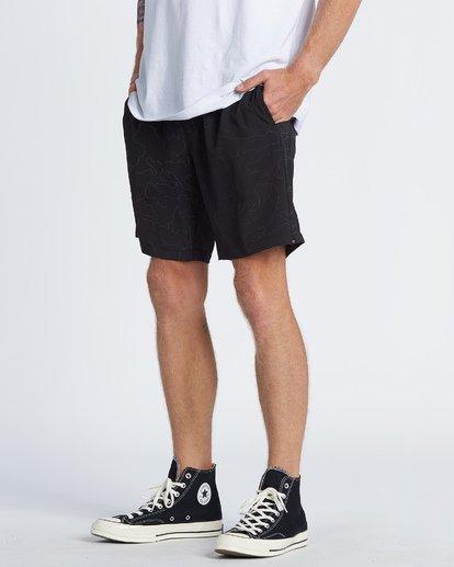 "3 Surftrek Rflx Elastic 18"" - Pantalones cortos de alto rendimiento para Hombre Negro S1WK38BIP0 Billabong"