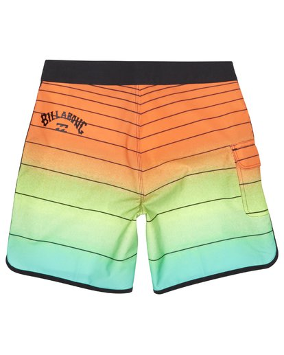 "3 73 Strippe Pro 18"" - Gestreifte Boardshorts für Jungen Orange S2BS14BIP0 Billabong"