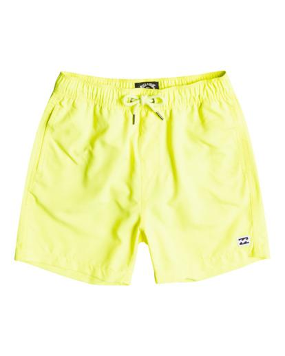 "0 All Day Laybacks 14"" - Board Shorts for Boys Yellow S2LB08BIP0 Billabong"
