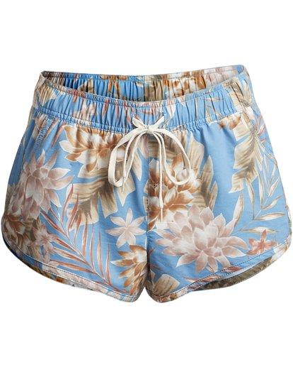 "4 Palm Rise Volley 2"" - Pantalones cortos de baño con flores para Mujer Azul S3BS01BIP0 Billabong"