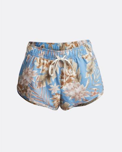 "3 Palm Rise Volley 2"" - Pantalones cortos de baño con flores para Mujer Azul S3BS01BIP0 Billabong"