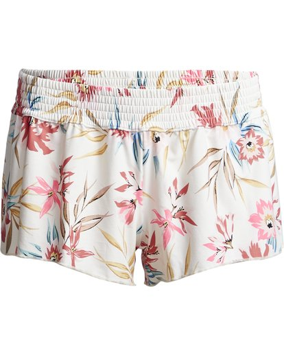 """3 Coral Sands Volley 2"""" - Pantalones cortos de baño con flores para Mujer Blanco S3BS05BIP0 Billabong"""