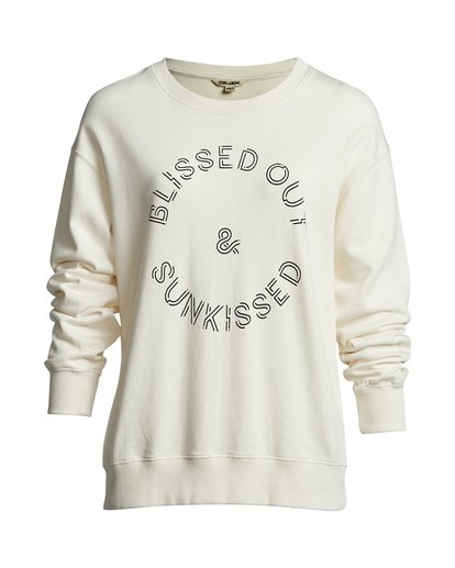 4 Blissed Out - Sweatshirt für Damen Weiss S3CR12BIP0 Billabong