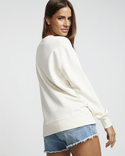 3 Blissed Out - Sweatshirt für Damen Weiss S3CR12BIP0 Billabong