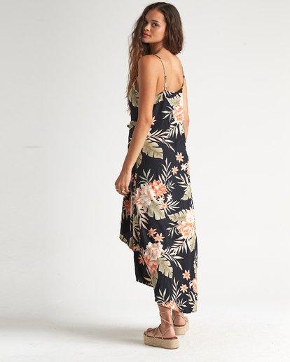1 The Best - Vestido midi floreado con largo irregular para Mujer Negro S3DR20BIP0 Billabong