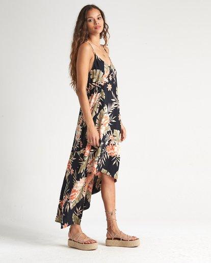 2 The Best - Vestido midi floreado con largo irregular para Mujer Negro S3DR20BIP0 Billabong