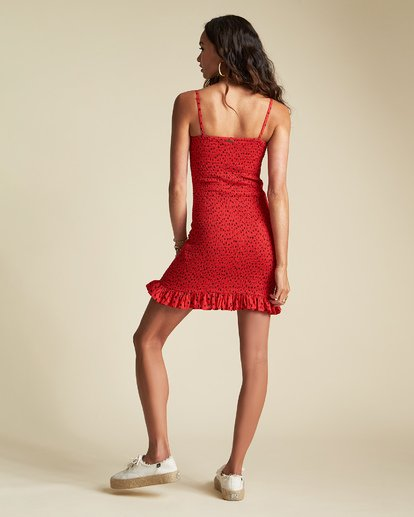 3 Playing For Keeps - Enges Partykleid mit Muster für Damen Rot S3DR35BIP0 Billabong