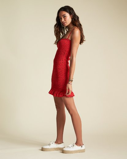5 Playing For Keeps - Enges Partykleid mit Muster für Damen Rot S3DR35BIP0 Billabong