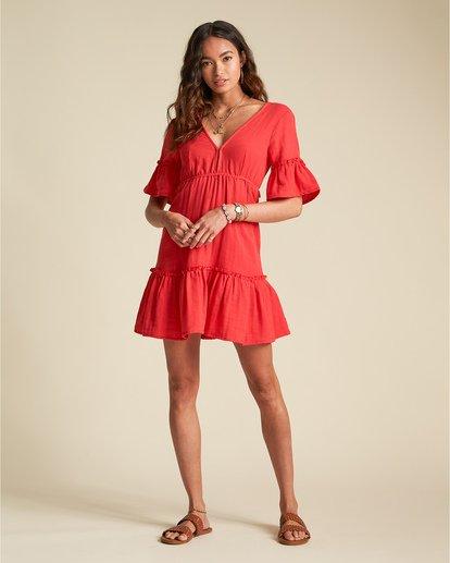 2 Lovers Wish - Minikleid mit kurzen Ärmeln für Damen Rot S3DR36BIP0 Billabong