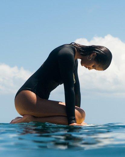 1 Onyx Wave - langärmeliger Badeanzug / Surf-Anzug für Damen Schwarz S3GY02BIP0 Billabong