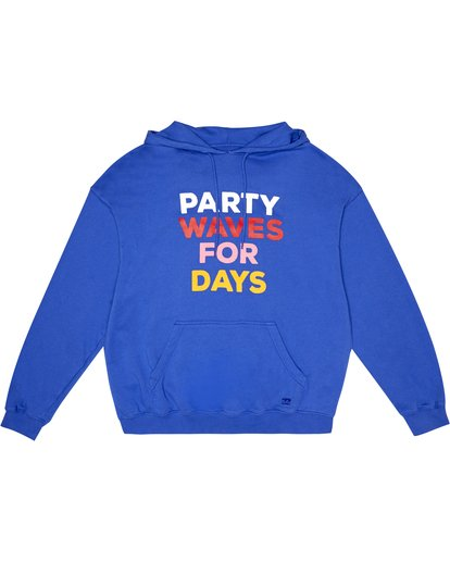 2 Party Wave - Hoodie for Women Blue S3HO06BIP0 Billabong